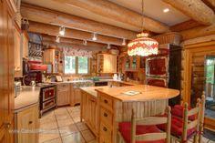 luxury log homes photos | Luxury Log Home on Otsego Lake