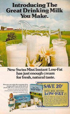 1970's Low-Fat Swiss Miss Magazine Ad