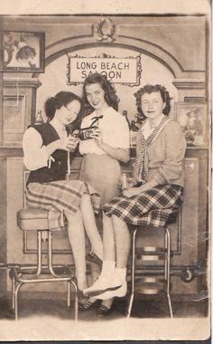 Me, Sue and Bonnie at the Long Beach Pike, ca1948/49