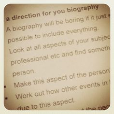How To Write A Biography 1