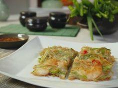 Seafood Pajeon Korean Pancake : Recipes : Cooking Channel