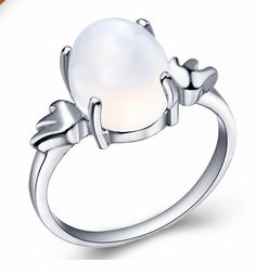 925 sterling Silver MOONSTONE ring ghjzSR1200M, MOONSTONE wedding rings