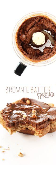 6 ingredient nut butter that tastes JUST like a fudgy brownie! #vegan #glutenfree