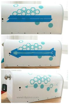 Try this easy mailbox makeover with cute octagon design! mailbox makeov, hous diy, diy fabul