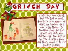 Grinch Day activities! :D