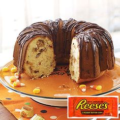 Reese's Peanut Butter Cups Cake, get the recipe--->