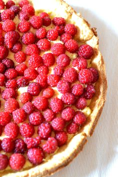 raspberries & vanilla cream tart