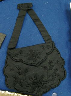 1860s hanging reticule to be attached to waist or belt- collection of Marge Harding
