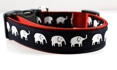 wow, what a cute dog collar! Love the mini elephants, I had only seen this print in a larger scale. Funky Mutt Collars!