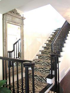runner on stairs