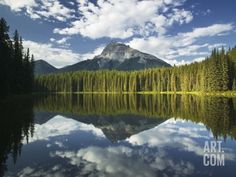 Pilot Point with Pilot Mountain, Banff National Park, Alberta, Canada Photographic Print by Darwin Wiggett at Art.com