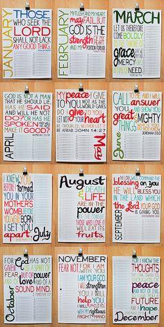 love the verses on this calendar!