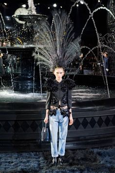 On the catwalk at Louis Vuitton Spring-Summer 2014 Fashion Show #PFW #RTW #SS14 #LouisVuitton #LV #LVMH via elle.com