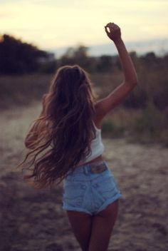 fashion, style, summer hair, high waisted shorts, long hair dos, longhair, summer night, denim shorts, dream hair