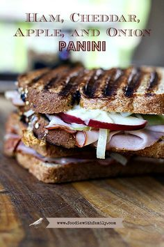 Ham, Cheddar, Fried Apple and Onions Panini from http://@Christina & Lindamood || Foodie with Family