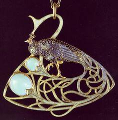 Art Nouveau artists - Lalique Jewelry. Pendant