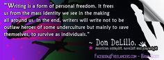 Don DeLillo (born Nov. 1936) is an American essayist, novelist, playwright, and short story writer. (Double-click on image for larger size)