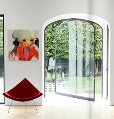 Forget the painting,it's all about the swing door