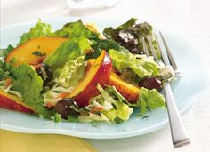 Santa Fe Nectarine Salad  -Dressing:  1/2  cup peach preserves  1/4  cup lime juice  2  tablespoons vegetable oil  1/4  teaspoon salt  1/4  teaspoon ground ginger  Salad  2  cups coleslaw mix (from 16-oz bag)  2  cups torn mixed romaine and leaf lettuce (from 10-oz bag)  1  cup seedless red grapes  2  medium nectarines or peaches, thinly sliced  1  to 2 jalapeño chiles, finely chopped, if desired  2  tablespoons chopped fresh cilantro, if desired