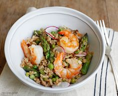 Easy Seafood Risotto with Lemon and Peas