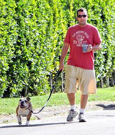 Adam Sandler and his dog