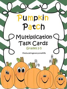 Multiplication Task Cards: Fall Theme - A wonderful addition to math centers!  #tpt  #math  #fall