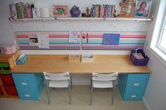 DIY Filing Cabinet Desk (2)