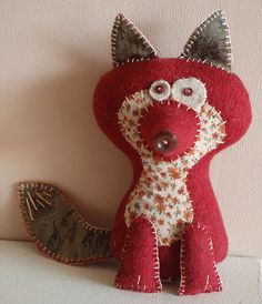 Zorro de fieltro - felt fox :)