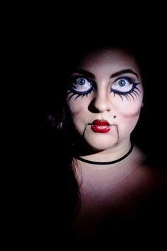 Ventriloquist Puppet makeup I did for a photo shoot  Perfect for    Ventriloquist Dummies Makeup