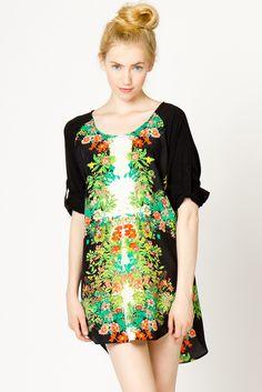 Fierce Floral Shift Dress | a-thread