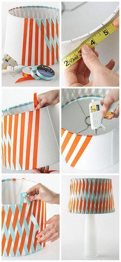 DIY RibbonLampshade