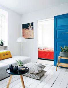 Blue sliding door!