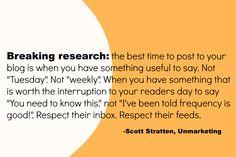 Quote by Scott Stratten of Unmarketing. #GBSMM