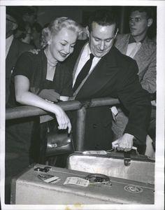 Olivia de Havilland & fiancee Pierre Galante