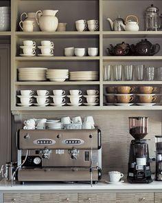 LIke the idea of a coffee station . . .