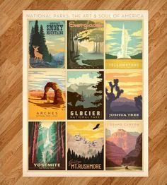 nation park, state parks, art prints, a frame, us national parks, park poster, vector design, posters, anderson design