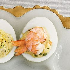 Creole Shrimp Deviled Eggs | These deviled eggs are perfect as a Mardi Gras appetizer.