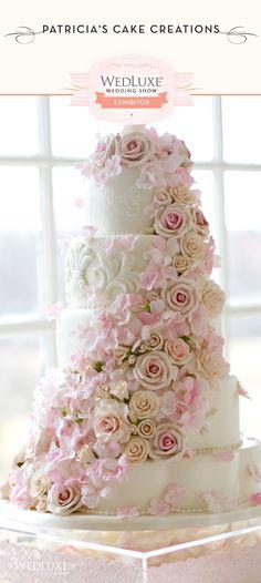 Beautiful pink wedding cake Patricia's Cake Creationsk #weddingcakes