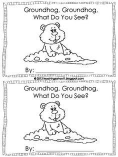 Groundhog Day mini book FREEBIE