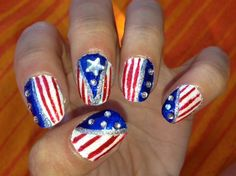 Independently Pretty--4th of July Nails by Cr8tive1 from Nail Art Gallery