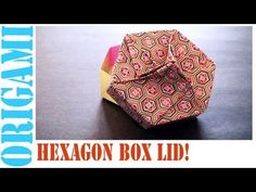 Origami Daily - 451: Hexagon Box Lid Ver 8. (Modular 3 Unit) - TCGames [HD] - YouTube