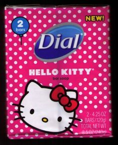 Dial Hello Kitty Bar Soap 4 Bars by Dial. $13.00. 2 packages of Dial Hello Kitty Soap. Each package contains 2 bars of soap, for a total of 4 bars.