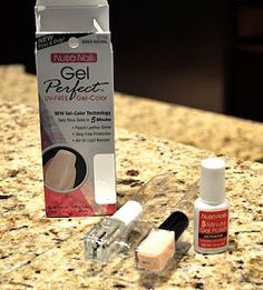DIY Gel Nails ~ No more chipped nails: (1) Apply 1 thin coat of 5 Minute Gel Polish. (2) Apply 1 coat of Essie's 3 Way Glaze base coat. (3) Apply 2 coats of polish. (4) Finish with a coat of 3 Way Glaze. --- Cheap Version of Shellac --- Worth a try!