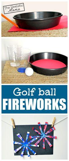 Golf Ball Rolling Art - Firework Craft *how cool!