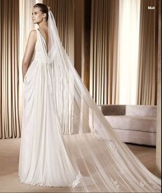 Chiffon Draped Back V Neck Banded Waist Aline [WG1457] - $233.00 : LuxeBlue Quality Discount Wedding Dresses & Formal Gowns, Worlds leading supplier of affordable fashion for Wedding dresses, Bridal gowns and discount formal wear. Safe & Fast delivery world wide.