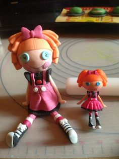 Lalaloopsy cake toppers tutorial