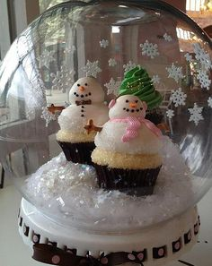 http://cupcakestakethecake.blogspot.com/2011/12/snowman-cupcakes-in-giant-snow-globe.html