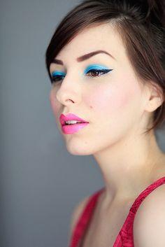 blue + pink