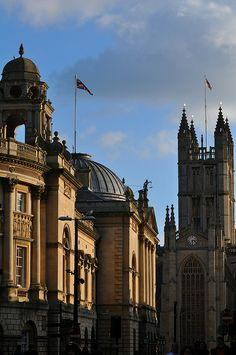 Spires and rooftops, Bath, Somerset, England