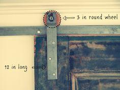 DIY door track dimensions and tutorial diy door, track doors, door design, barn doors, closets, diy tutorial, barns, door track, decor idea